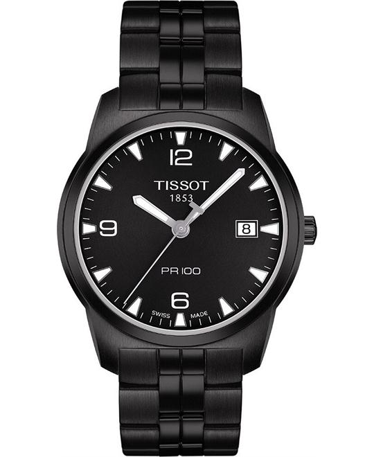 Tissot Men's Swiss Black Stainless Watch 38mm
