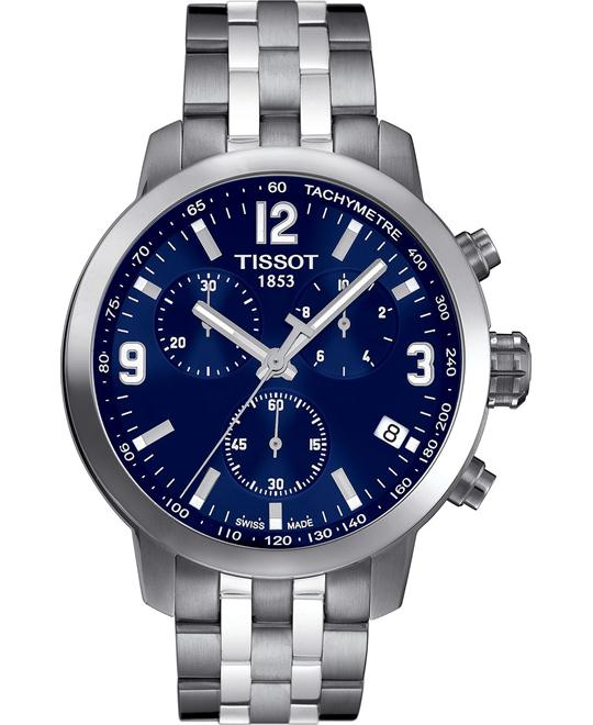 Tissot PRC 200 Chronograph Blue Swiss Watch 41mm