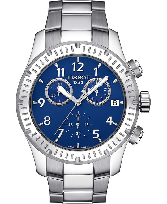 Tissot V8 Blue Men's Swiss Stainless Watch 43mm