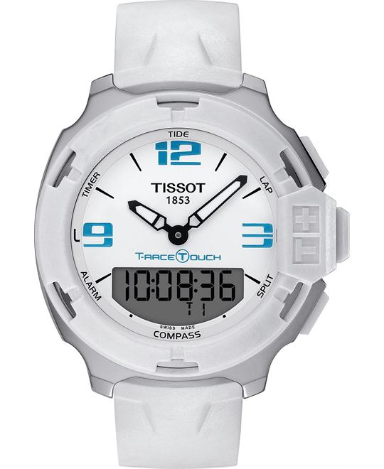 Tissot Men's Swiss White Rubber Strap Watch 42mm