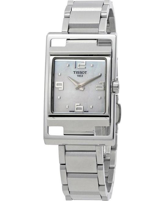 TISSOT T032.309.11.117.00 My-T Mother of Pearl Dial Ladies Watch 41.8 mm x 25.7 mm