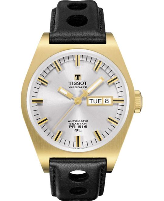 Tissot PR 516 Heritage Silver PVD Automatic Watch 40mm