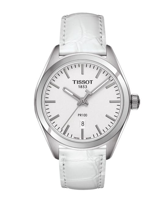 TISSOT PR100 White Dial Ladies Watch 33mm