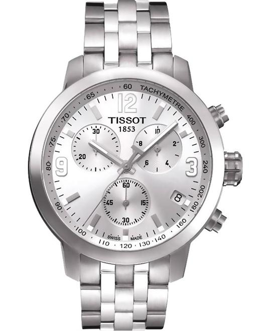 TISSOT PRC 200 Silver Dial Stainless Steel Men's Watch 41mm