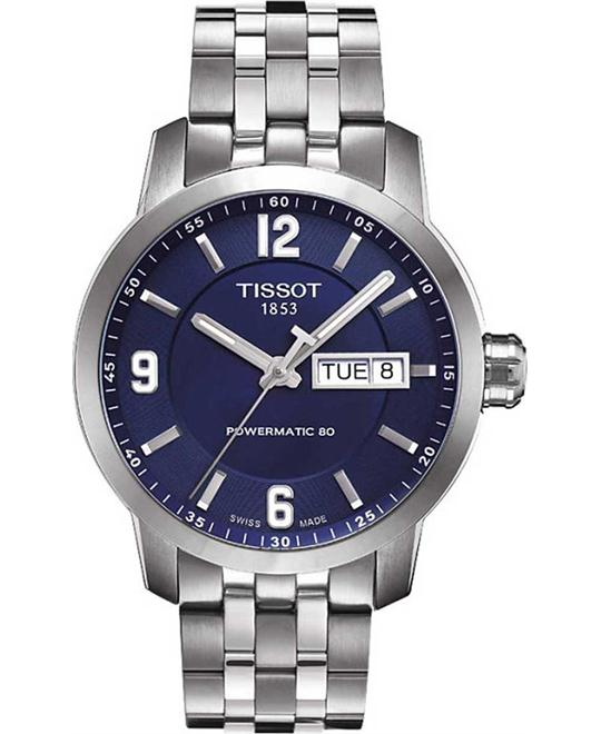 Tissot PRC 200 Swiss Automatic Silver Watch 39mm