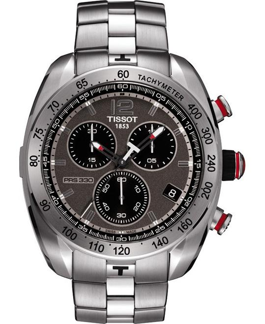 TISSOT PRS 330 Chronograph Anthracite Dial Men's Watch 44mm
