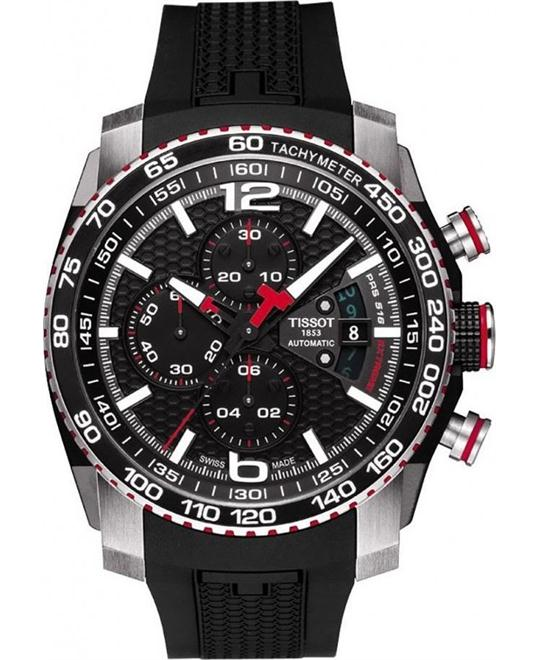 TISSOT PRS 516 Black Dial Chronograph Watch 44.4mm