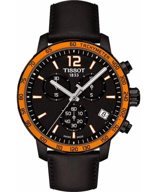 TISSOT Quickster Black Dial Black Watch 42mm