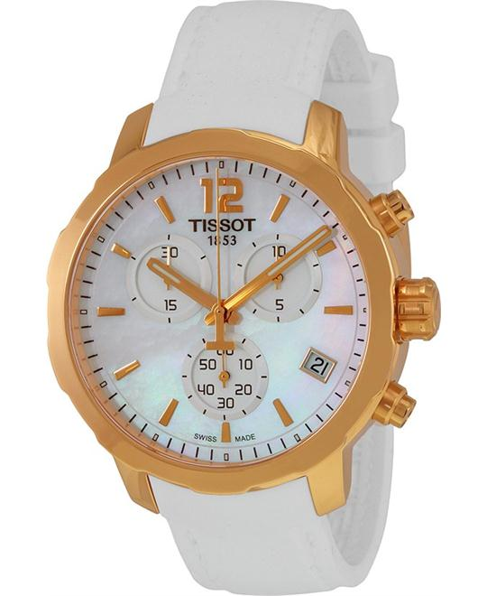 TISSOT Quickster Chronograph  Dial White Silicone  Watch 42mm
