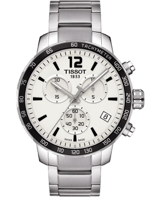 TISSOT Quickster Chronograph Silver  Watch 42mm