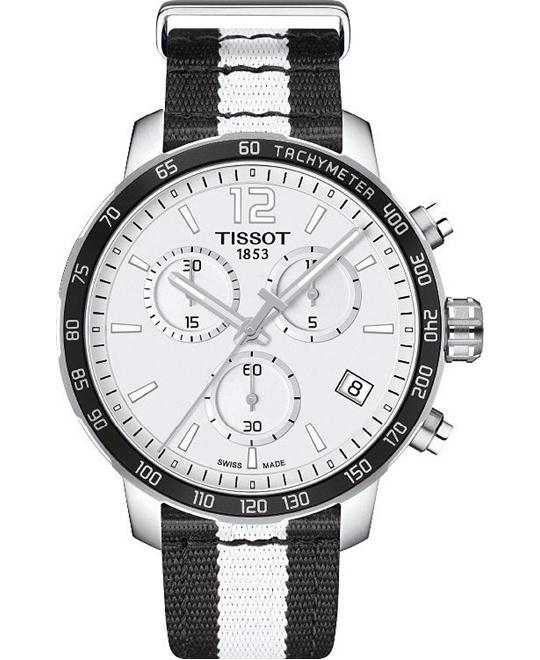 Tissot Quickster NBA Brooklyn Nets Chronograph Mens Watch 42mm