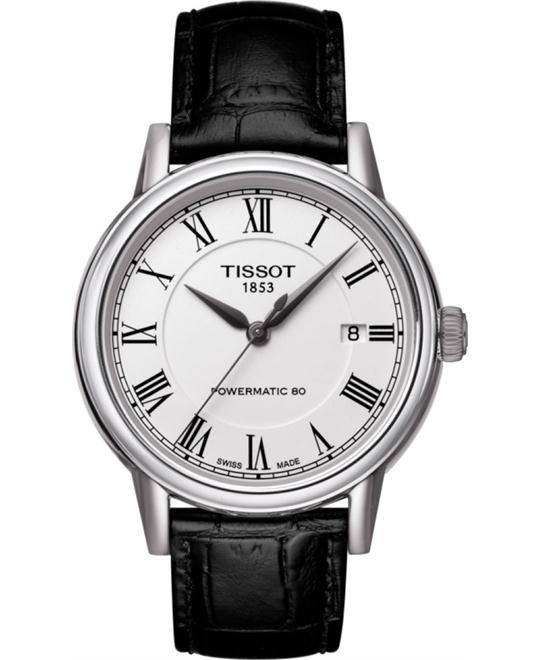 TISSOT T-Classic Carson White Dial Black Leather Men's Watch 40mm