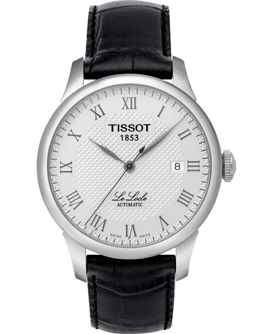 TISSOT T-Classic Le Locle Black Leather Men's Watch 39mm