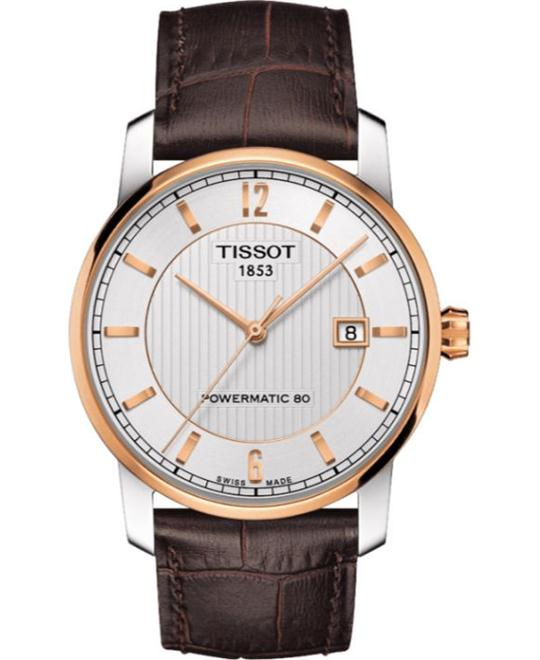 TISSOT T-Classic Silver Dial Brown Leather Men's Watch 40mm