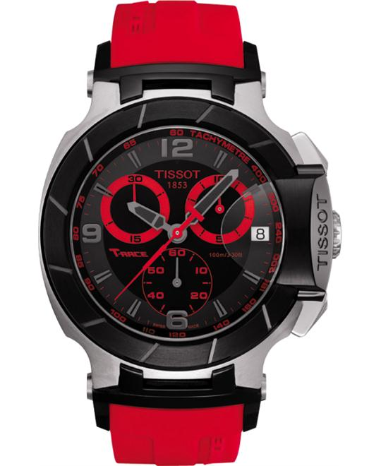 TISSOT T-Race Men's Black & Red Quartz Watch 50.26mm