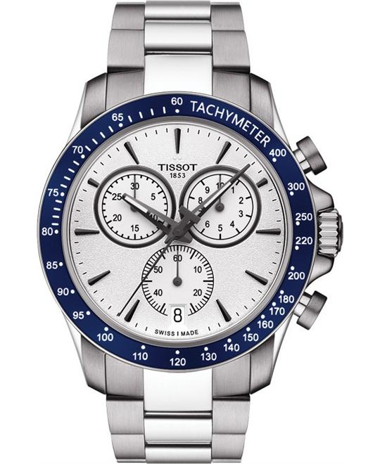 TISSOT T-Sport V8 Silver Dial Chronograph Watch 42.5mm