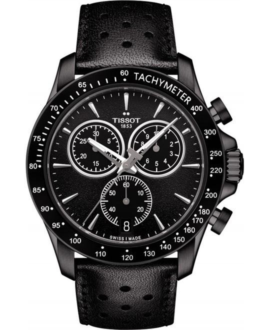 TISSOT T-Sport V8 Black Dial Chronograph Watch 42.5mm