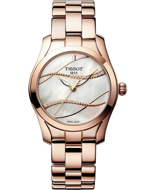 TISSOT T-Wave Mother of Pearl Diamond Watch 30mm