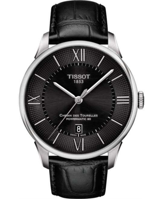 đồng hồ TISSOT T099.407.16.058.00 Chemin Des Tourelles Men's Watch 42mm