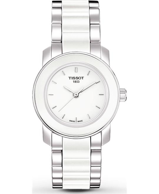 Tissot Women's Cera Silver-Tone Ceramic Watch 28mm