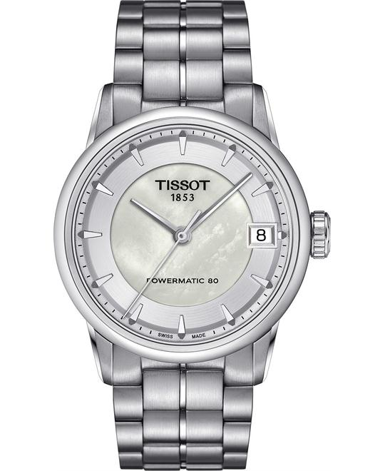 TISSOT Luxury Powermatic 80 Mother of Pearl Ladies Watch 33mm