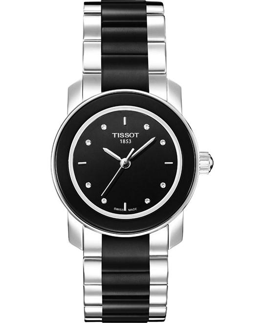 TISSOT T-Trend Ceramic Diamond Ladies Watch 28mm
