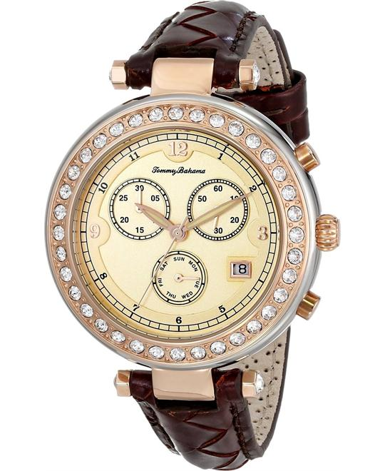 Tommy Bahama Women's Swiss Brown Woven Watch 40mm