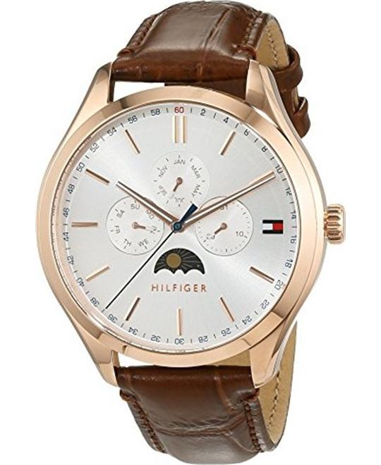 Tommy Hilfiger Sport Lux Brown Leather Strap Watch 42mm