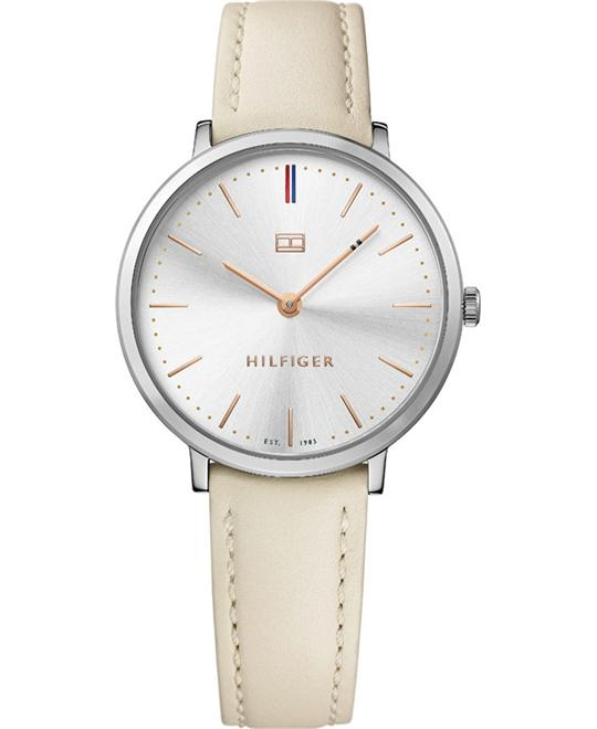 TOMMY HILFIGER Ultra Slim White Ladies Watch 36mm