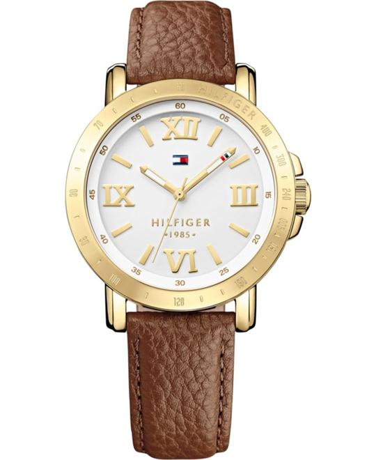 Tommy Hilfiger Women's Camel Leather Watch 38mm