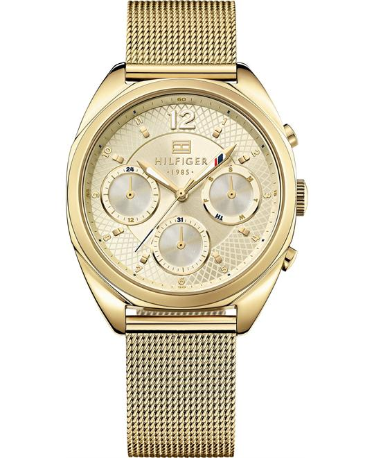 Tommy Hilfiger Women's Gold Ion-Plated Mesh Watch 38mm