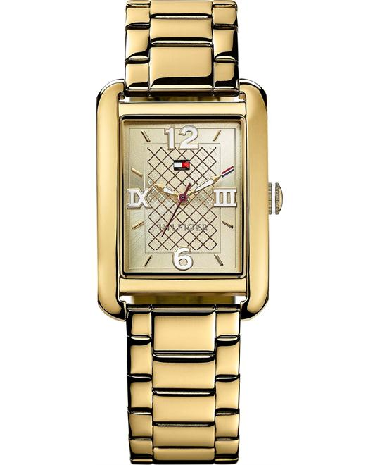 Tommy Hilfiger Women's Gold-Tone Bracelet Watch 27mm