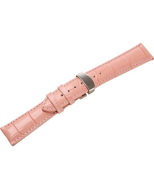 Uyoung Women's Genuine Leather Deployant Watch Band 16mm