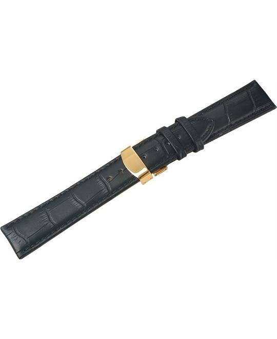 Uyoung Women's Genuine Leather Golden Watch Band 14mm