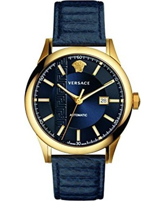 VERSACE AIAKOS BLUE AUTOMATIC WATCH 44MM