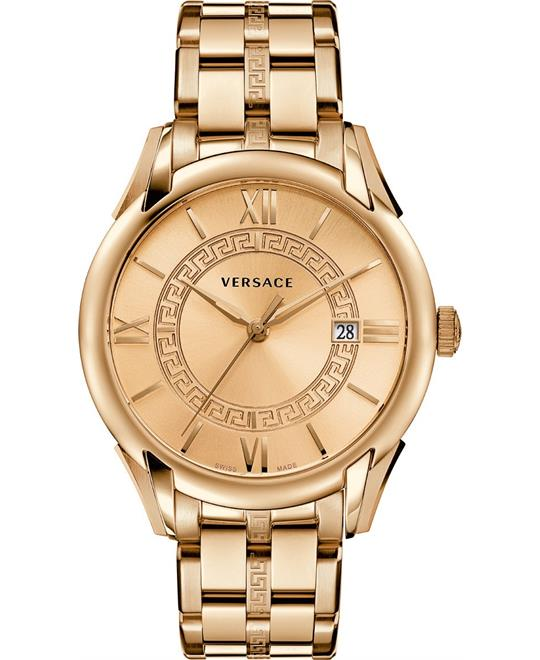 "Versace ""Apollo"" Rose Gold Casual Men's Watch 42mm"