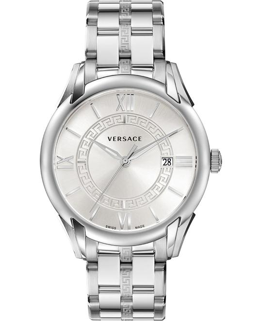 "Versace ""Apollo"" Stainless Casual Men's Watch 42mm"