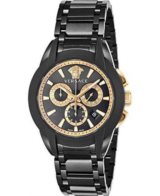 Versace Character Analog Black Men's Watch 42.5mm