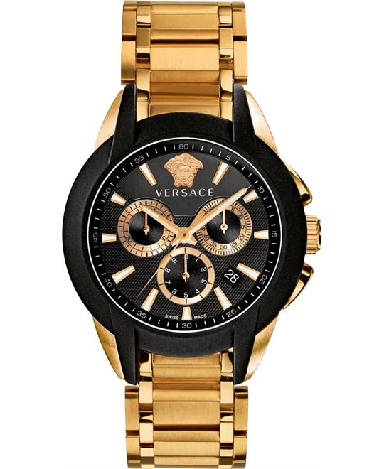 Versace Character Chronograph Gold IP Watch 42mm
