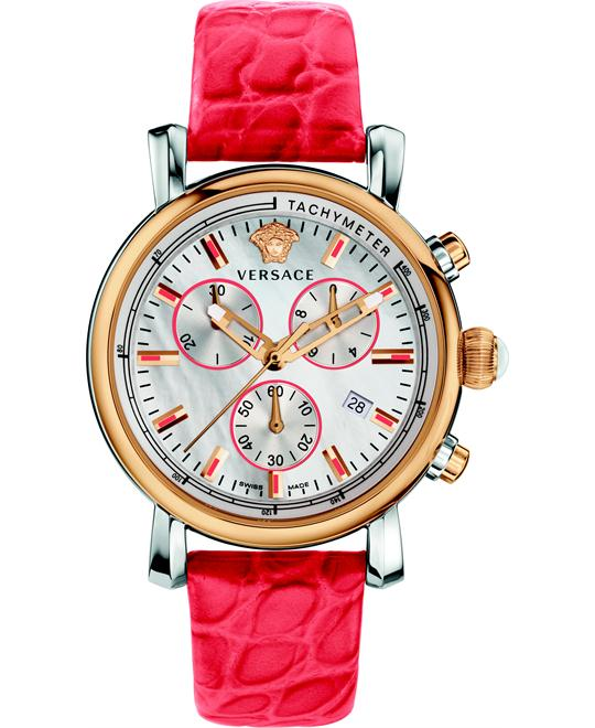 Versace Day Glam 2-Tone Red Watch 38mm