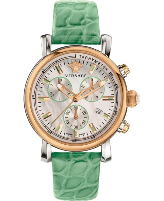 Versace Day Glam Chronograph MOP Watch 38mm