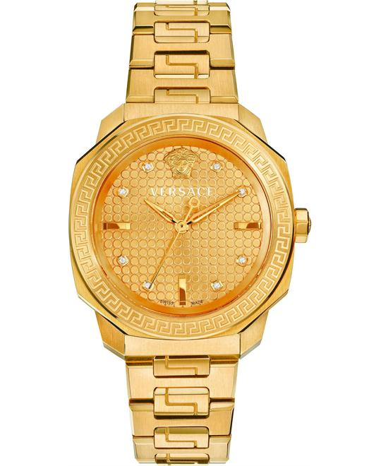 Versace Dylos Swiss Quartz Gold-Plated Watch 35mm