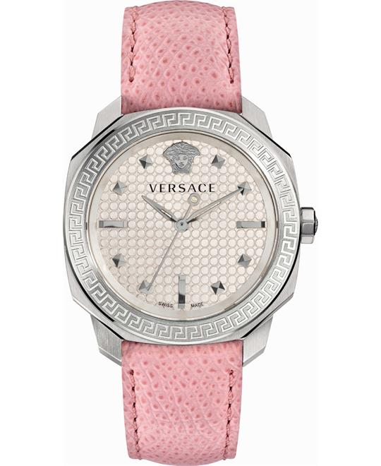 Versace Dylos Icon Swiss Quartz Pink Watch 35mm