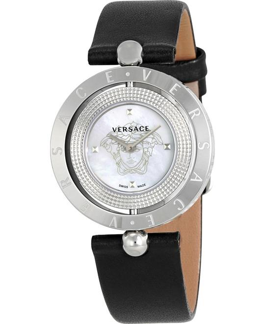 Versace Eon Mother of Pearl Leather Watch 33.6mm
