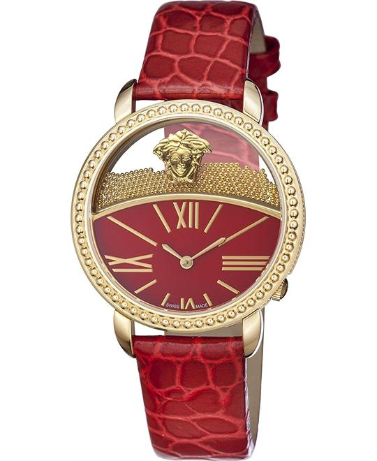 Versace KRIOS Gold IP Floating Micro Watch 38mm