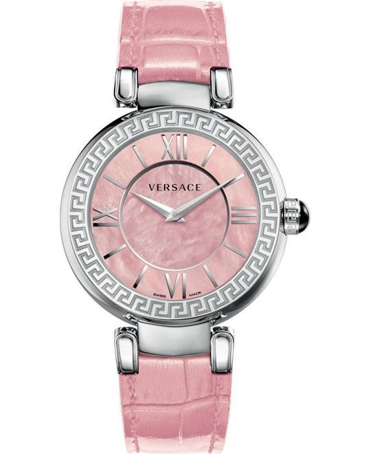 Versace Leda Pink MOP Women's Watch 38mm