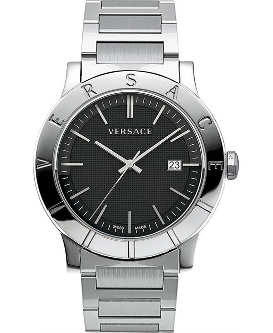 "Versace Men's ""Acron"" Stainless Steel Watch 43mm"