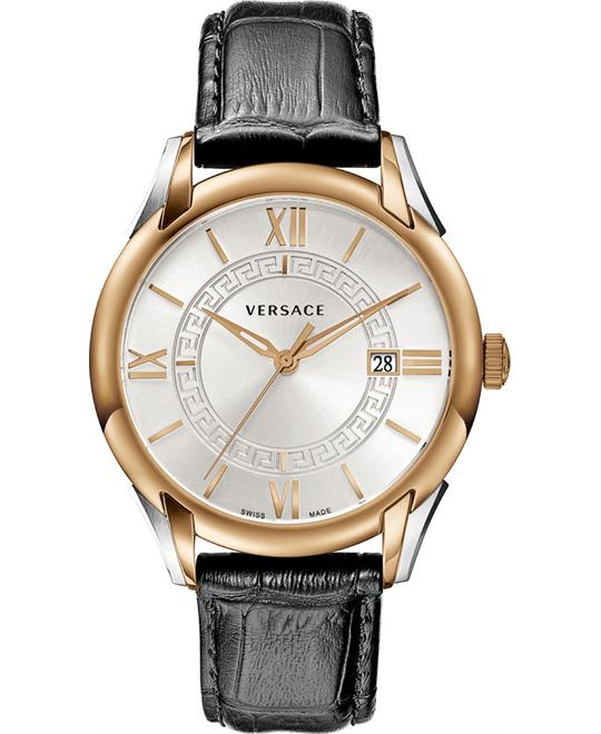"Versace ""Apollo"" Rose Gold Ion-Plated Men's Watch 42mm"