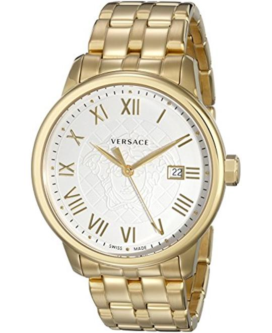 Versace Men's Business Gold Ion-Plated Stainless Steel Watch 43mm