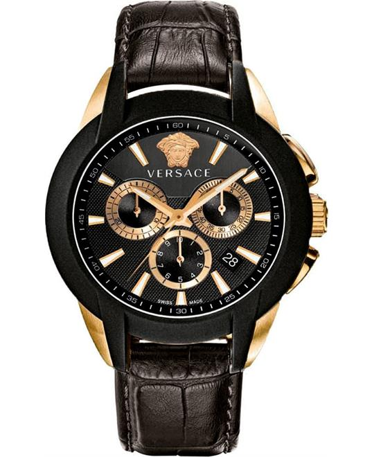 Versace Men's Character Quartz Black Watch 42mm